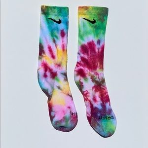 Custom Tie Dyed Premium Athletic Sock